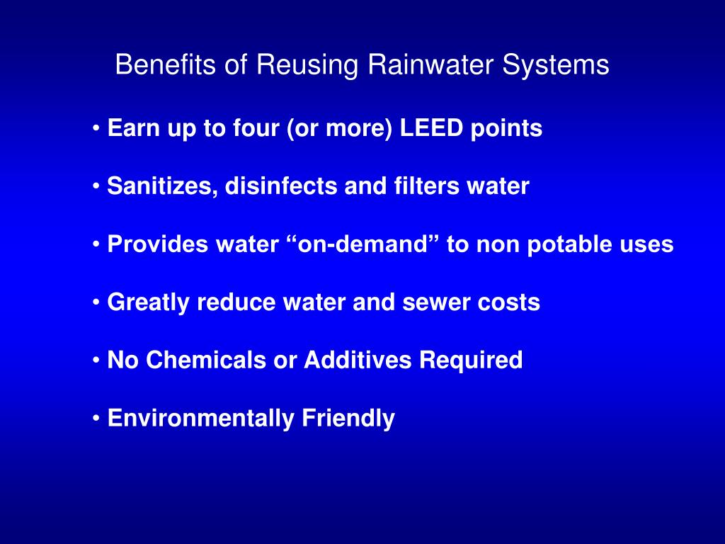 Benefits of Reusing Rainwater Systems