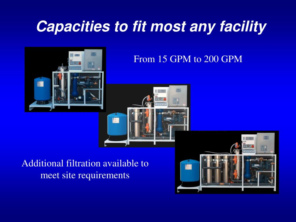 Capacities to fit most any facility