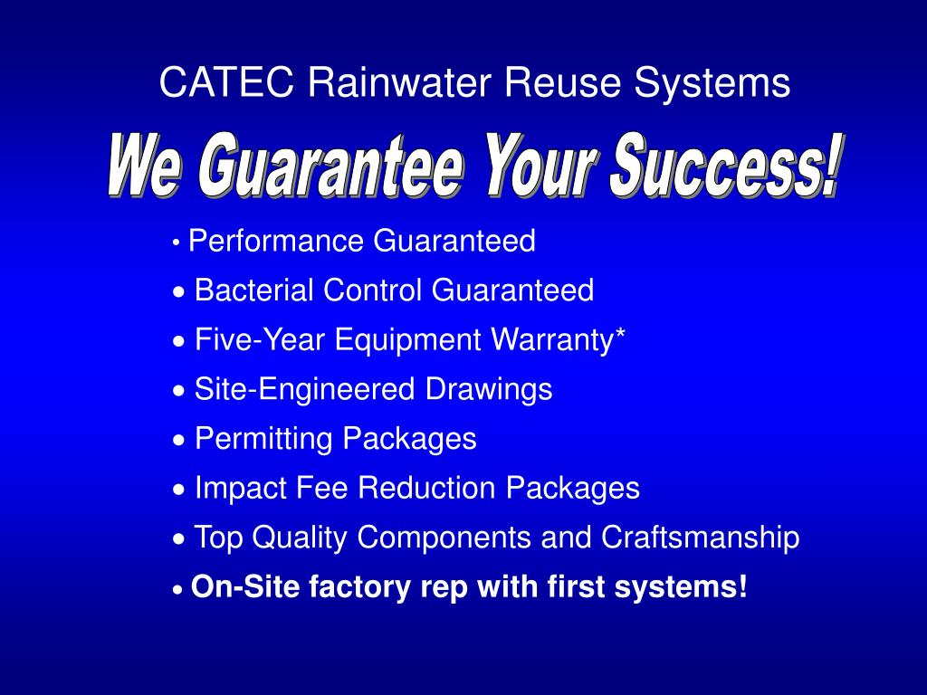 CATEC Rainwater Reuse Systems