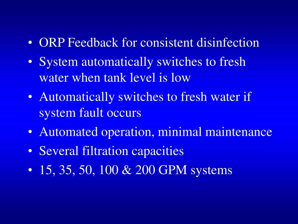 ORP Feedback for consistent disinfection