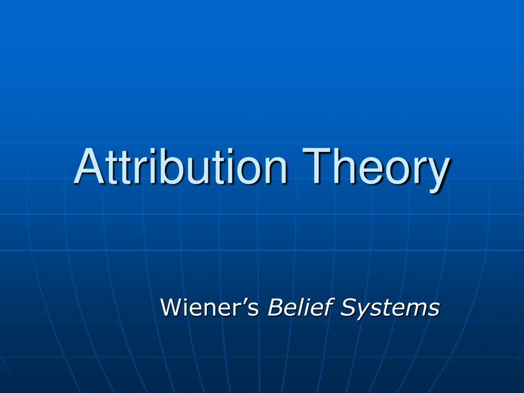 attribution theory l.