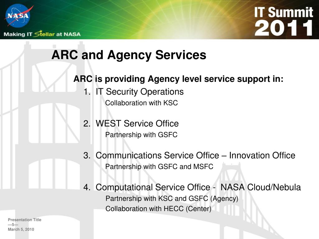 ARC and Agency Services