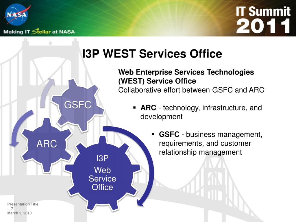 I3P WEST Services Office