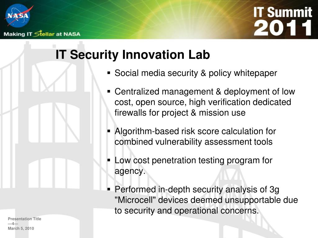 IT Security Innovation Lab