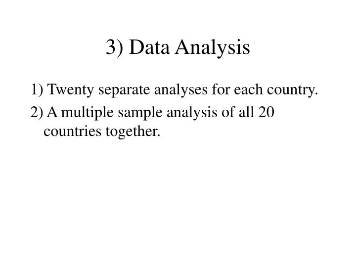 3) Data Analysis