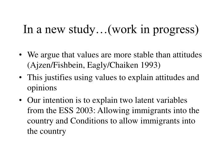 In a new study…(work in progress)