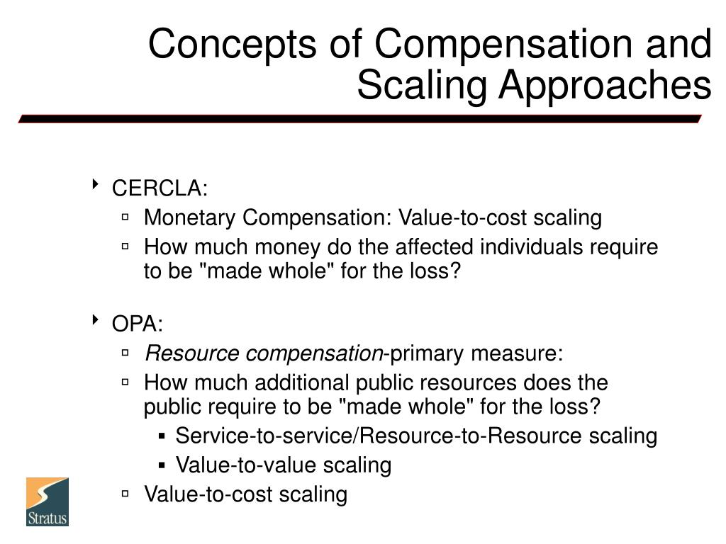 Concepts of Compensation and Scaling Approaches