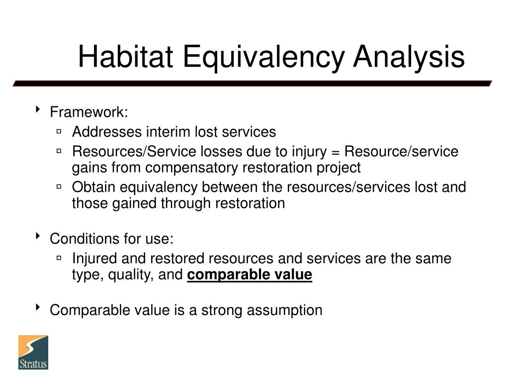 Habitat Equivalency Analysis