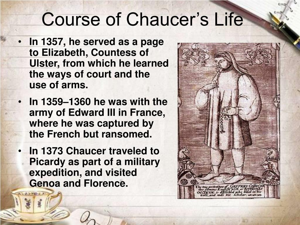 Course of Chaucer's Life