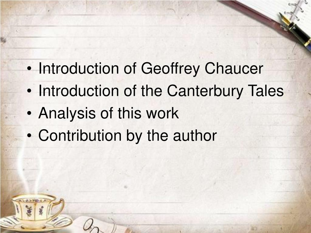 Introduction of Geoffrey Chaucer