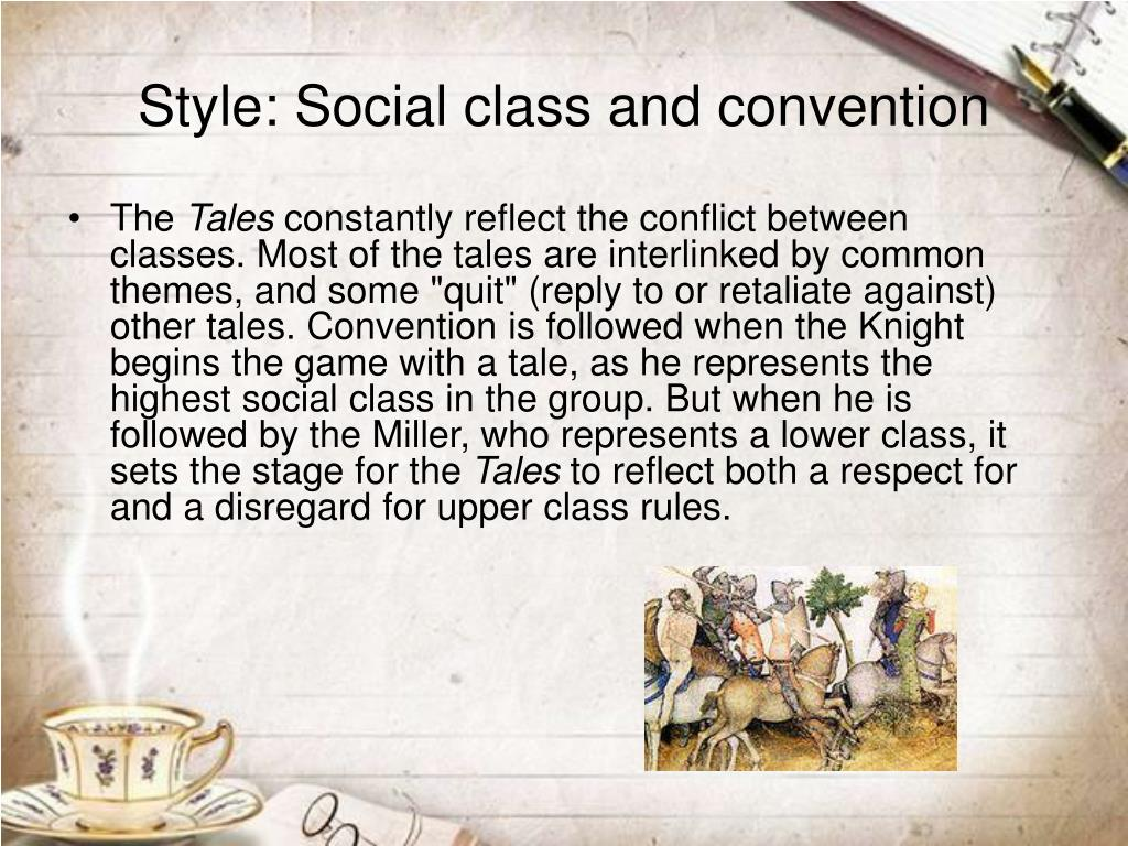 Style: Social class and convention