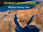 abraham s journey to egypt