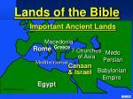 important ancient lands