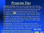 program tips