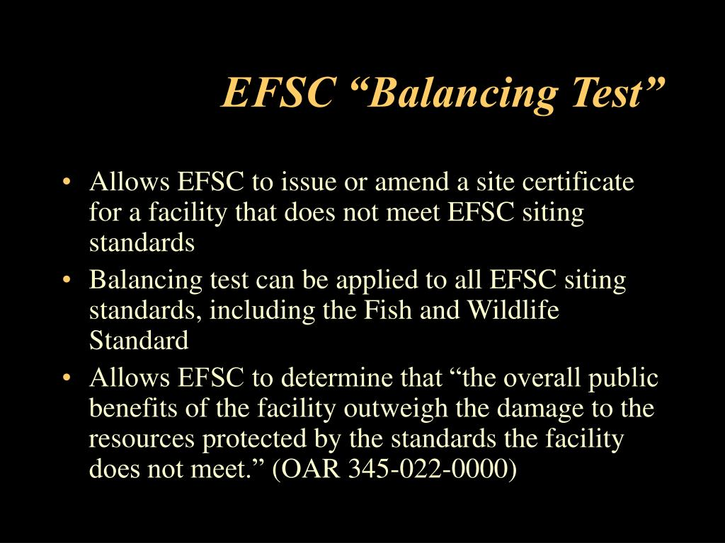 "EFSC ""Balancing Test"""