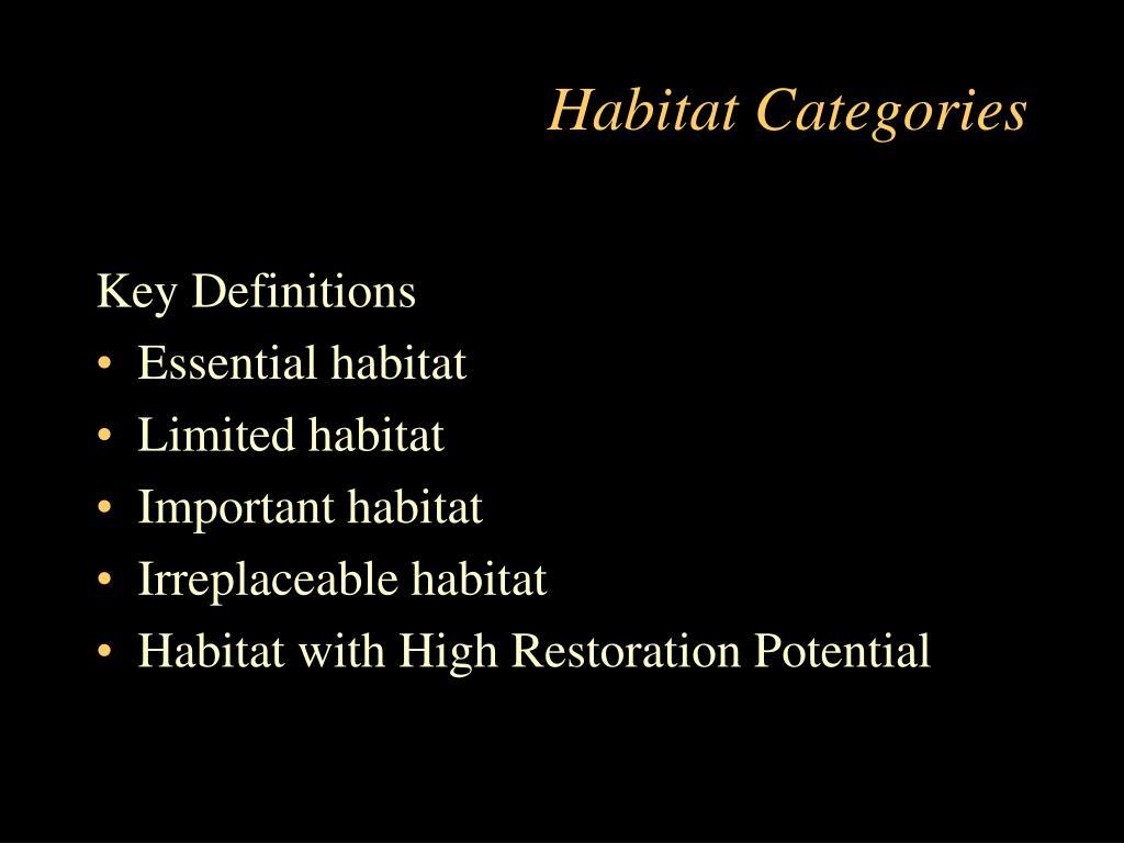Habitat Categories