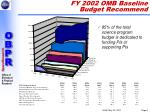 fy 2002 omb baseline budget recommend