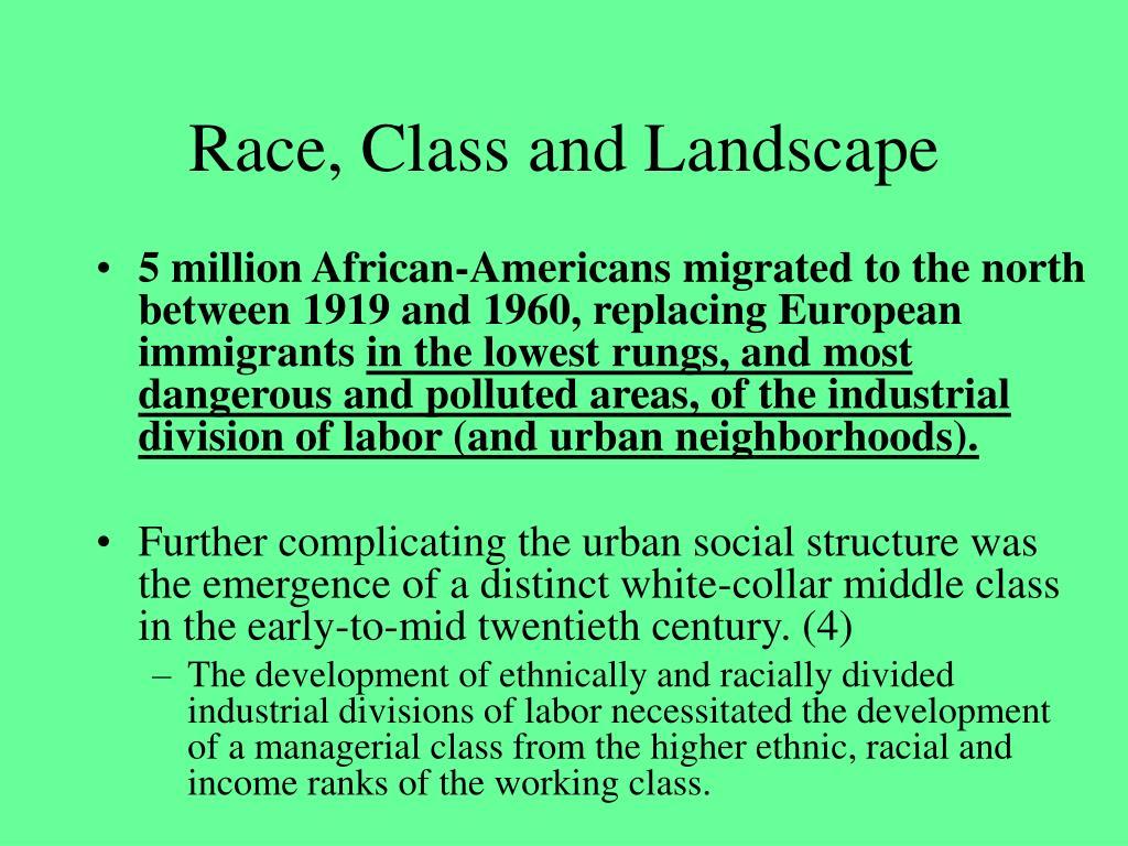 Race, Class and Landscape