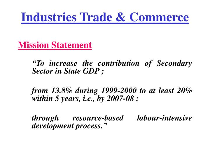 Industries trade commerce