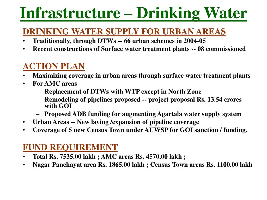 Infrastructure – Drinking Water