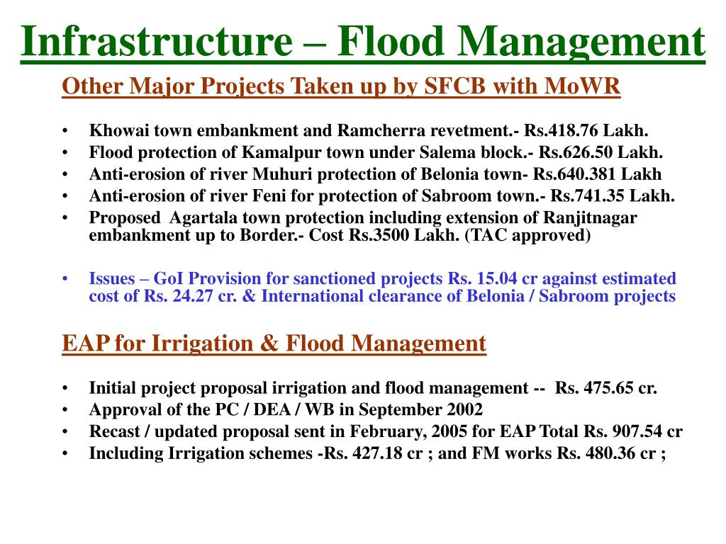 Infrastructure – Flood Management