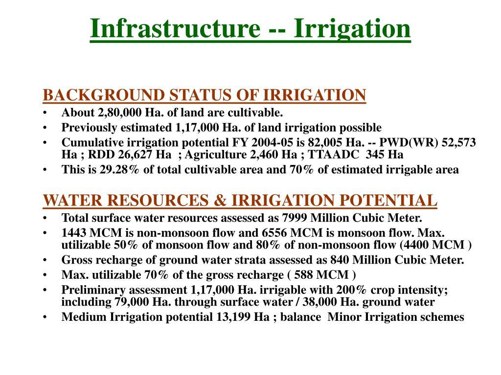 Infrastructure -- Irrigation