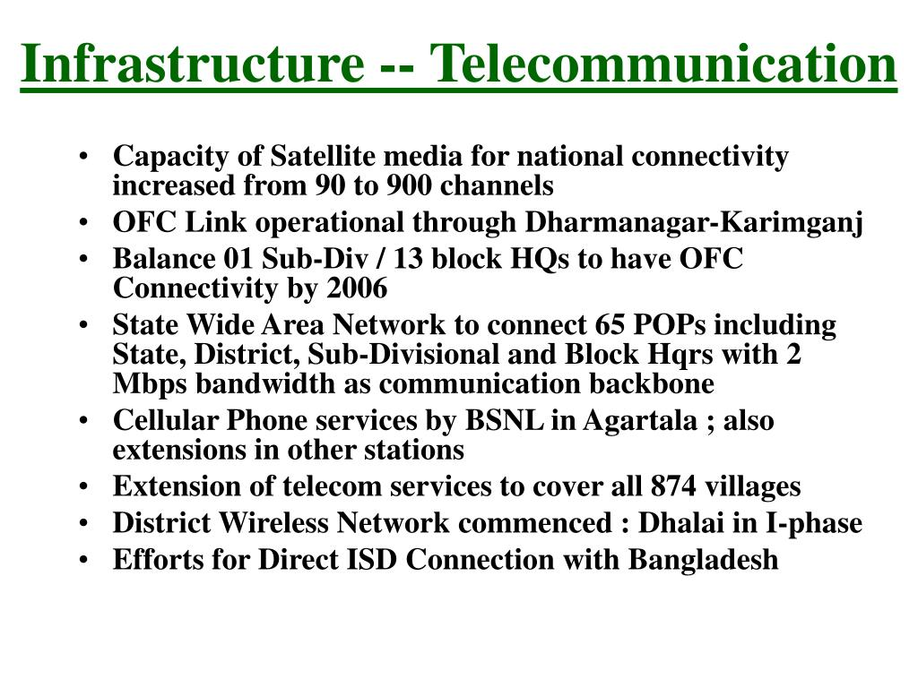 Infrastructure -- Telecommunication