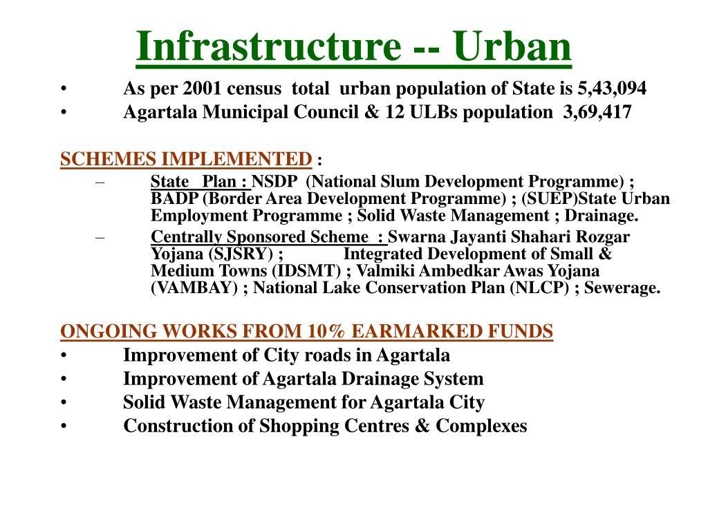 Infrastructure -- Urban