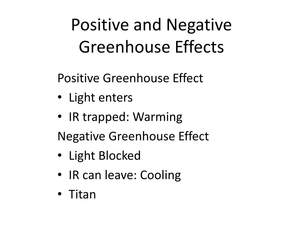 Positive and Negative Greenhouse Effects