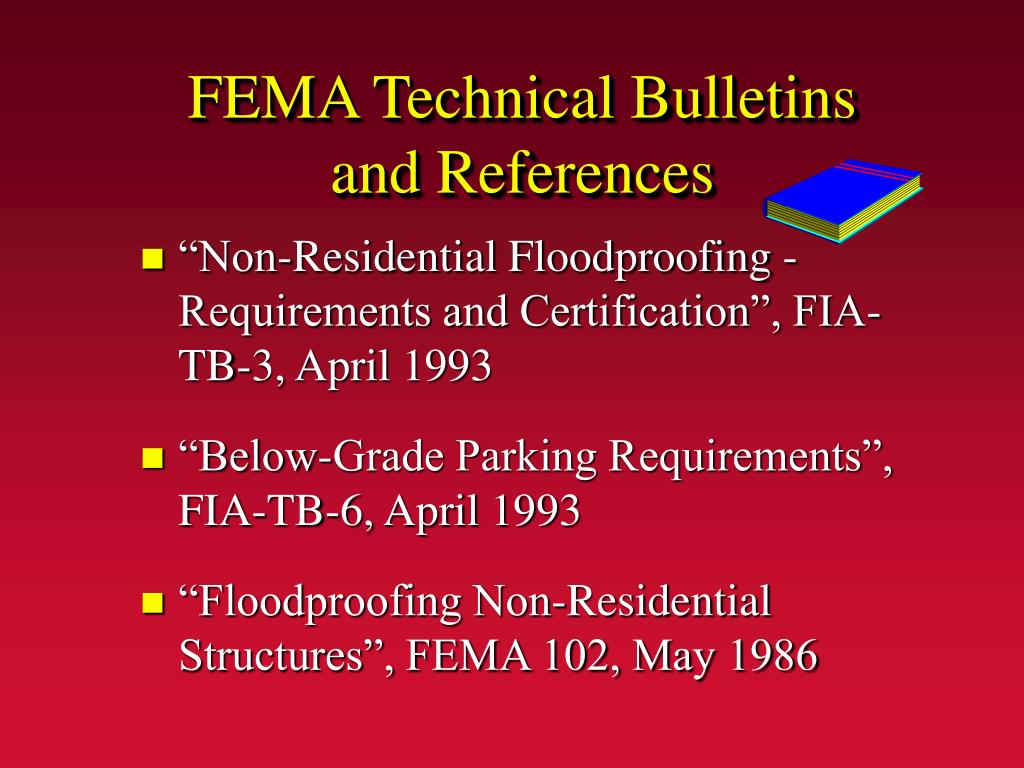 FEMA Technical Bulletins and References