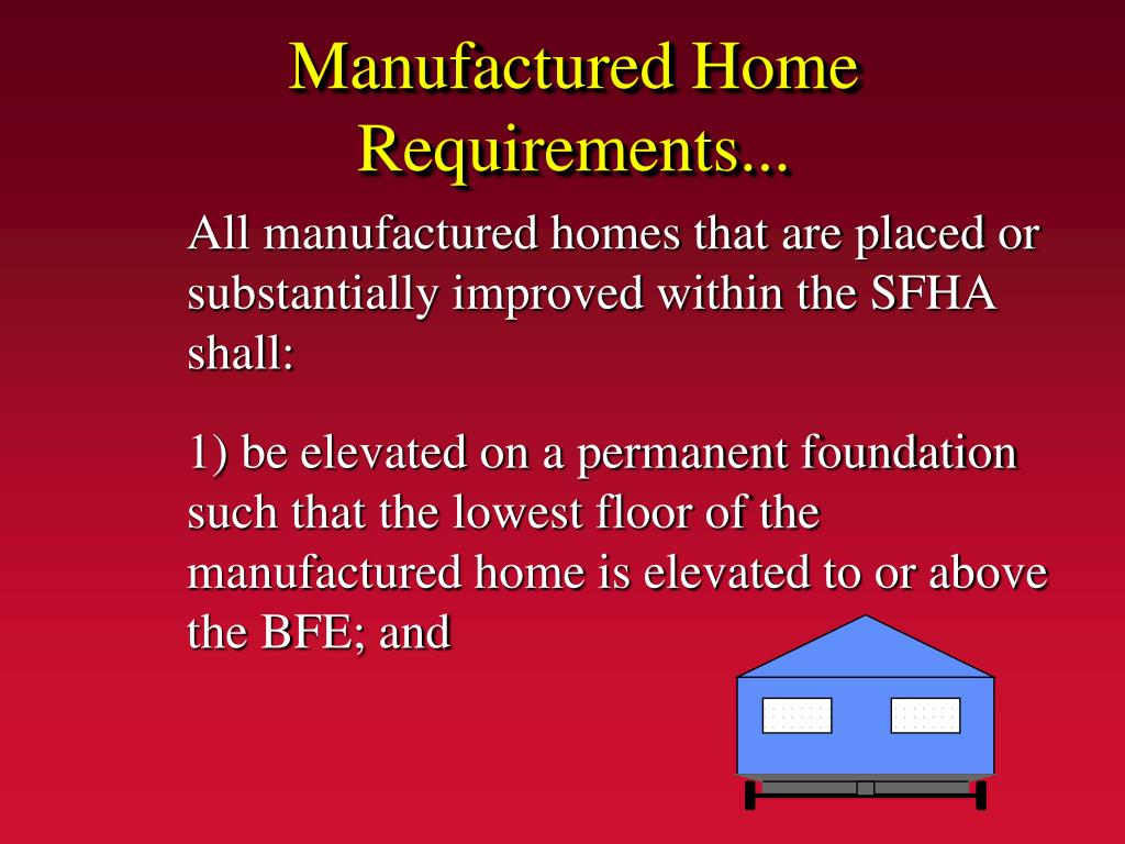Manufactured Home Requirements...
