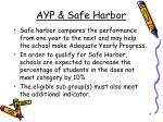 ayp safe harbor