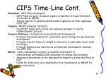 cips time line cont