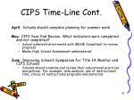 cips time line cont1