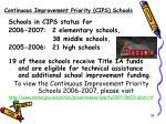 continuous improvement priority cips schools