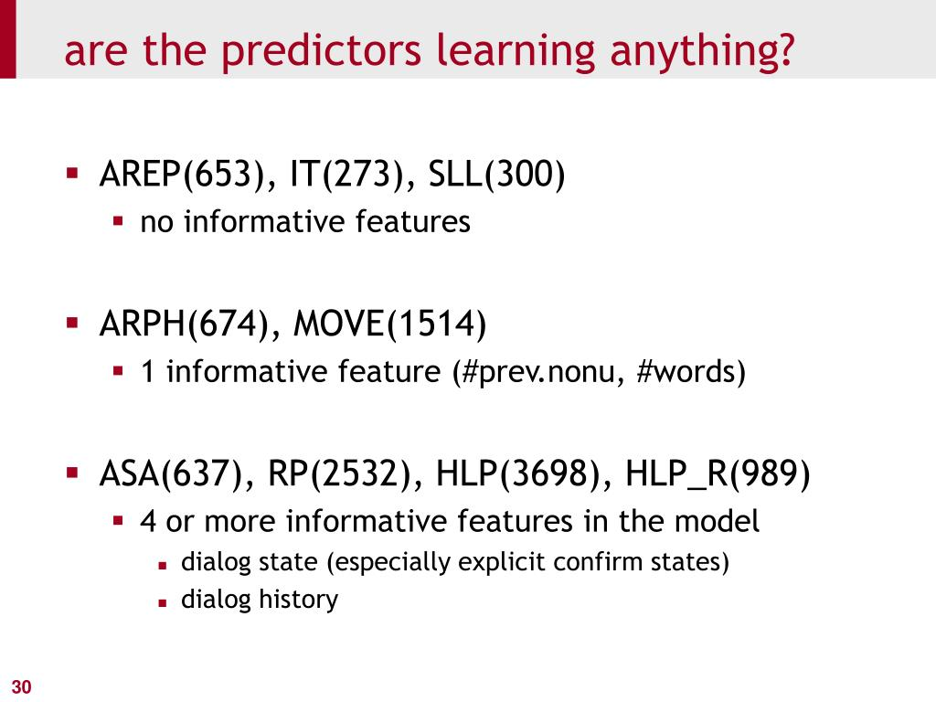are the predictors learning anything?