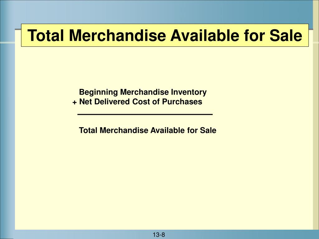 Total Merchandise Available for Sale