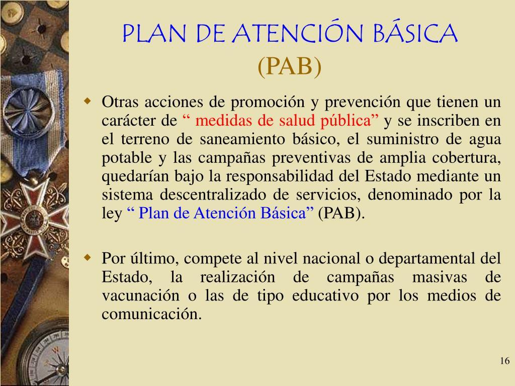 PLAN DE ATENCIÓN BÁSICA