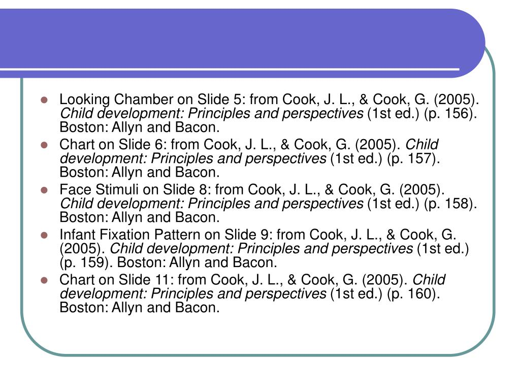 Looking Chamber on Slide 5: from Cook, J. L., & Cook, G. (2005).