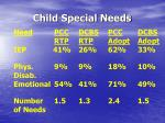 child special needs