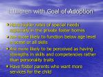 children with goal of adoption