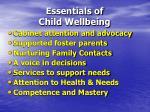 essentials of child wellbeing