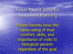 foster parent skills for concurrent planning
