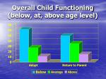 overall child functioning below at above age level