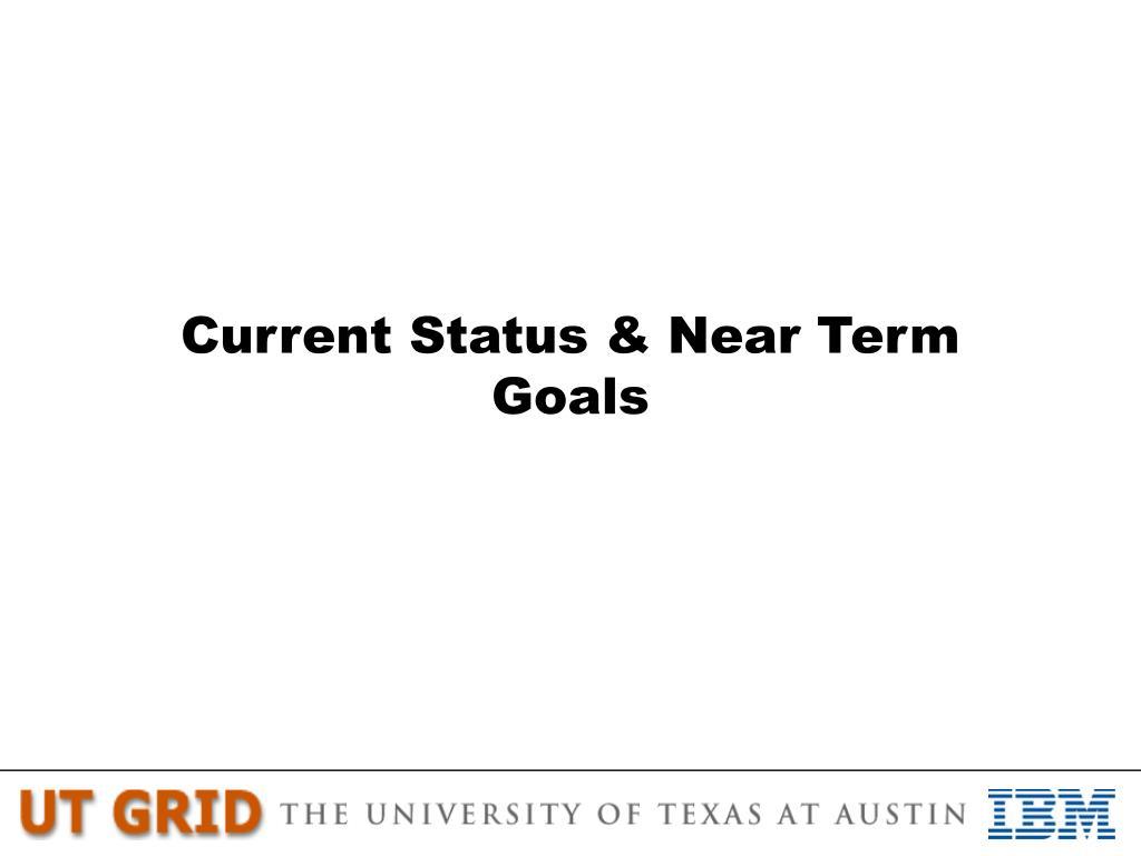 Current Status & Near Term Goals