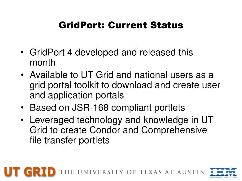 GridPort: Current Status