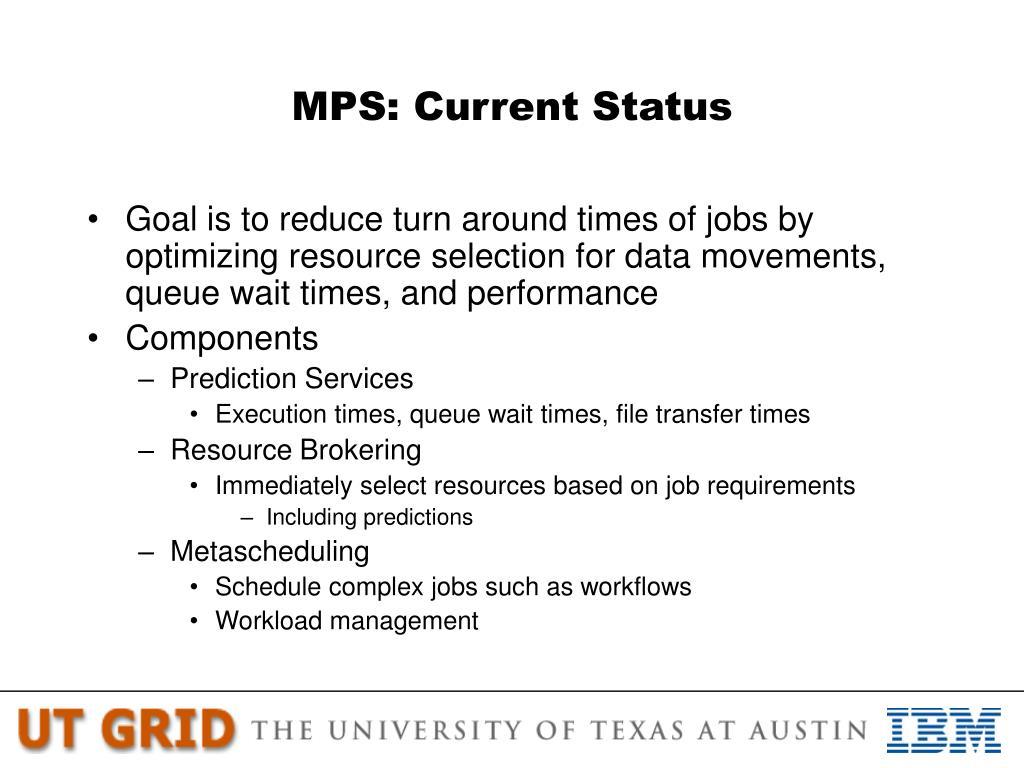 MPS: Current Status