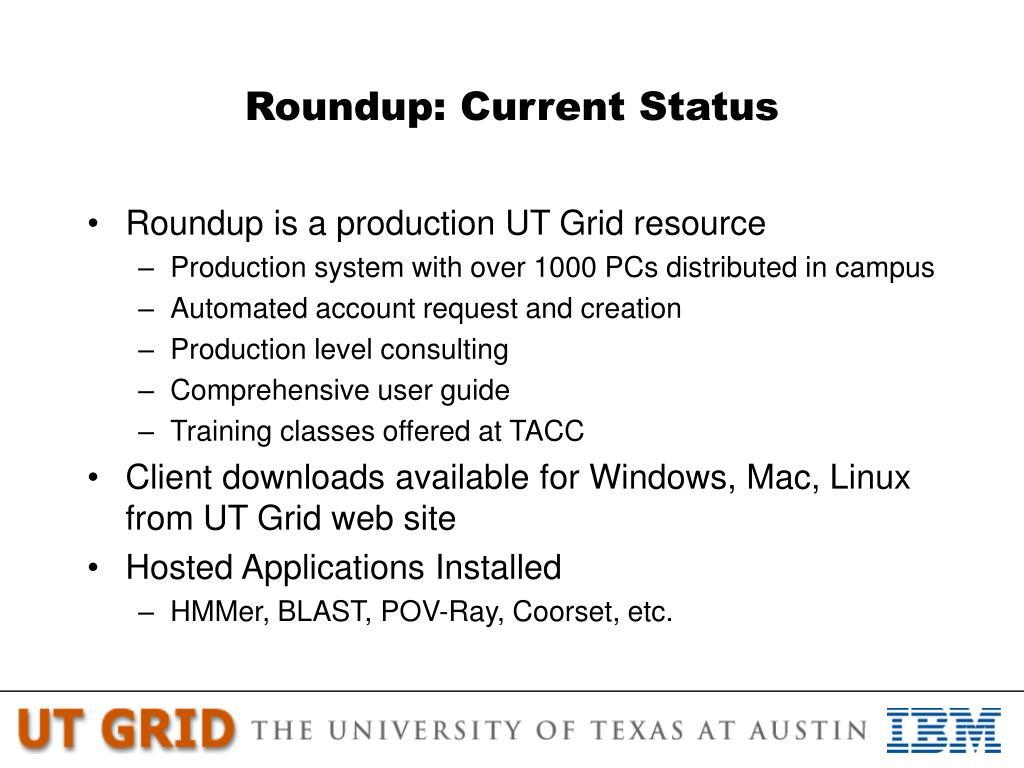 Roundup: Current Status