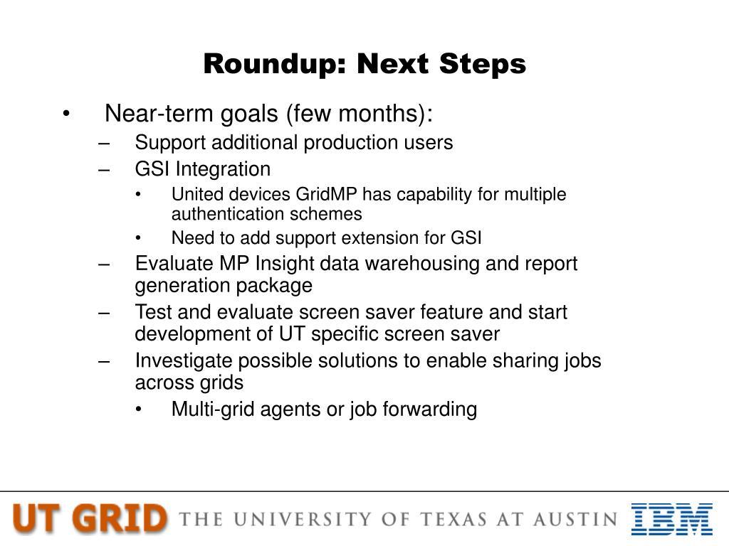 Roundup: Next Steps