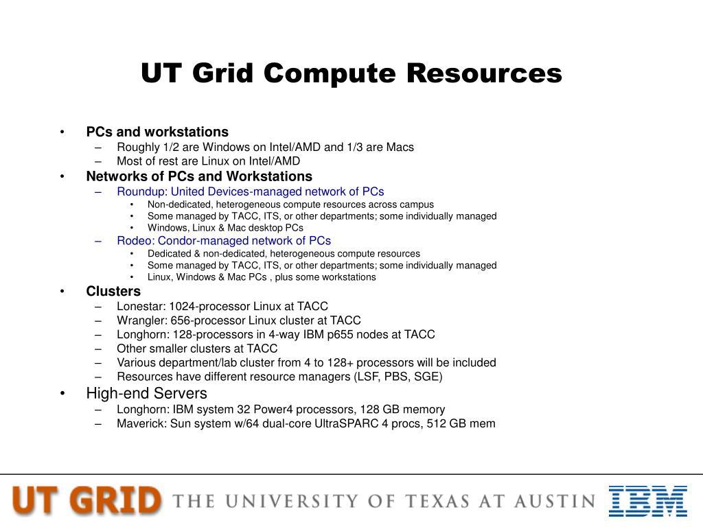 UT Grid Compute Resources